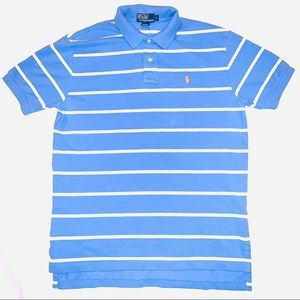 POLO RALPH LAUREN Polo Shirt striped mens Large